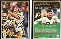 Jamie Asher Signed 1998 Paramount #243 Card Washington Redskins Auto Autograph