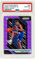 JAREN JACKSON JR. ROOKIE RC 2018 Panini Prizm #66 PURPLE WAVE PSA 10 GEM MINT