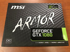 MSI Gaming Nvidia GeForce GTX 1080 Armor 8GB OC GDDR5X VR Ready Graphics Card