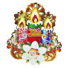 Addobbo Natalizio Buon Natale 3D Festone Decorazioni Natalizie Dietro Porta 501