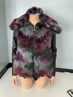 Emporio Armani NEW fur With Leather Sleeves Jacket Swing Coat Size 36 Uk 6 Bnwts
