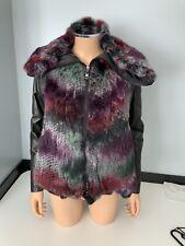 Emporio Armani NEW fur With Leather Sleeves Jacket Swing Coat Size 40 Uk 12 Bnwt