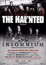 THE HAUNTED / INSOMNIUM AUSTRALIA 2015 CONCERT TOUR POSTER - Heavy Metal Music
