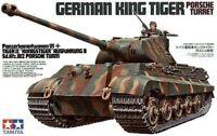 PZ.KPFW VI AUSF.B KING TIGER WITH PORSCHE TURRET (WEHRMACHT MKGS) 1/35 TAMIYA