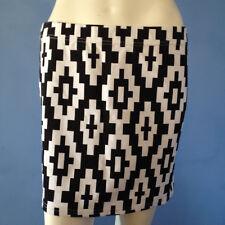 Ice Fashion Mini Skirt Black/White Cross Pattern.Size L.NWOT