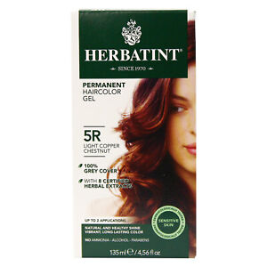 Herbatint Permanent Gel 5R Light Copper Chestnut, Clearance for damaged box
