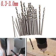28pc Micro Twist Drill Bits Mini Set HSS Metric Sizes 0.3-3.0mm for PCB Crafts