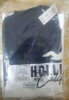 Mens Hollister Colorblock Logo Graphic Tee Long Sleeve T-Shirt M 100% Genuine