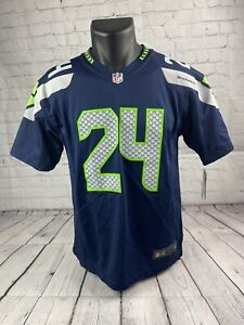 Marshawn Lynch Seattle Seahawk Jersey Kids Size Large New With Tags