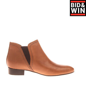RRP €140 JB MARTIN Leather Booties EU 38 UK 5 US 8 Elasticated Insert Round Toe
