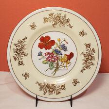 Minton J COLCLOUGH Hand Painted 12 Luncheon Plate Set SIGNED 1940s Gold Floral