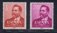 SPAIN (1961) - MNH COMPLETE SET - SC SCOTT 990/91 JUAN VAZQUEZ DE MELLA
