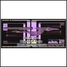 Fridge Fun Refrigerator Magnet STAR TREK USS EXCELSIOR Starship LCARS Schematic