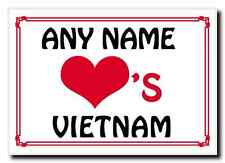 Love Heart Vietnam Personalised Jumbo Magnet