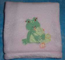 KidsLine Pink Baby Blanket Fleece Green Frog Duck Plush Soft