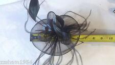 Medium Black Feather Hair Mesh Hat Fascinator Clip Flower Church Ball Celebratio