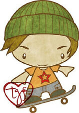 SKATER IAN-The Greeting Farm-Cling Mount Rubber Stamp-Stamping Craft-RETIRED