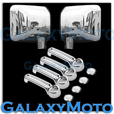 Chrome plated Full ABS Mirror+4 Door Handle Cover Combo for 07-17 JEEP WRANGLER