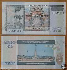 Burundi 1000 Francs Banknote 2009 UNC