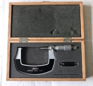 *TESTED*  SPI 2-3 inch Outside Micrometer w/rod (res 0.0001 inch, mdl 10-603-9)