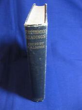 Freshman Readings, edited by R.S. Loomis,1925, Houghton & Mifflin Co.