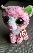 """Authentic Ty Beanie Boos Sophie Pink Cat 6"""" Soft Toys Plush, Brand New With Tags"""