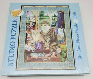 Bits and Pieces Cat Conundrum New 1000 Piece Puzzle Sealed G. Tristram 2005