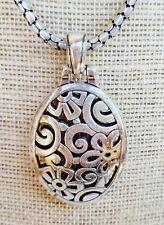 Brighton Deco Lace Oval Pendant  Necklace