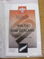 Rugby 04/11/1989: Wales V Nuova Zelanda [a Cardiff ARMS Park] OFFICIAL PROG