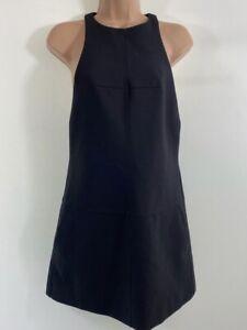 H&M STUDIO BLACK Pocket Front Wool Blend Sleeveless halter dress size 8