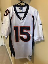 AUTHENTIC TIM TEBOW DENVER BRONCOS JERSEY WHITE SIZE 54 SEWN NFL FOOTBALL #15
