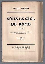 ALBERT BESNARD SOUS LE CIEL DE ROME EO NUM GRAND PAPIER 1925 ART VILLA MEDICIS