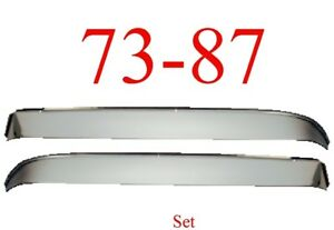 73 87 Chevy Stainless Vent Shade Set, GMC Truck Blazer Jimmy