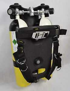 Dräger LTG Taucherausstattung / Tauchflasche / Rückentragegestell / 2 x 7 Liter