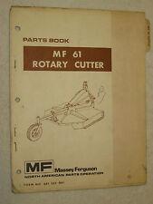 ORIGINAL MASSEY FERGUSON MF 61 ROTARY CUTTER MOWER PARTS BOOK MANUAL