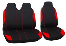 2+1 polyester Housse de siège NOIR ROUGE pour Nissan Opel Peugeot Renault