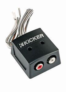 KICKER 46KISLOC KISLOC 2 Ch Speaker Wire-to-RCA Converter w/ LOC For OEM Radios