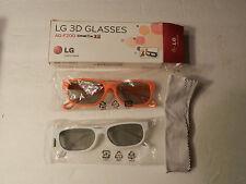 LG AG-F200 3D Glasses  LG Cinema 3D  2 pairs For 2011 LG 3D LED HDTVs