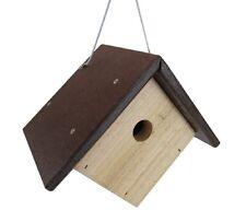 JCs Wildlife Cedar & Poly Wren, Chickadee, & Warbler Birdhouse, Brown Roof