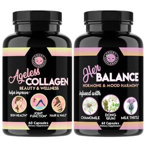 Ageless Collagen Beauty & Wellness + Her Balance Hormone & Mood Harmony