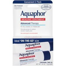 New Aquaphor Advanced Therapy Healing Ointment Skin Protectant 2 X .35 oz. Tubes