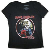 Iron Maiden Vintage Circle Beast Ladies Plus Size Black T Shirt New Official