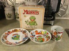 New 80s? Sigma Tastesetter Jim Henson's Muppets 3 Piece Child's Set Dinnerware
