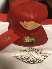 Don C Nike Air Jordan Just Don Red Leather Gold Buckle Strapback Hat W/ Dustbag