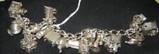 Beau Vintage Sterling Silver Charm Bracelet/ 19 Charms!!!!!