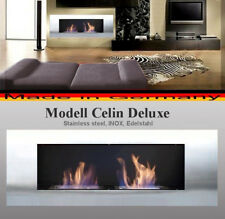 Gel- and Ethanol-Fireplace Celin-Deluxe Stainless Steel / Made in Germany / bio