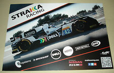 LE MANS-FIA WEC 2016 Silverstone-Strakka Racing Nissan Gibson signé Carte