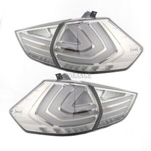4x LED Rear Tail Light Brake Lamp for Nissan X-trail T32 2013-2019 Smoking Black