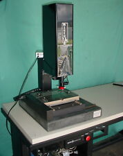 Micro Vu 8x6 Optical Comparator Video Measuring System Withtable Camera Amp