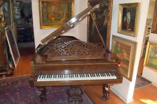 STEINWAY & SONS & BENCH RARE & FINE GRAND PIANO  C 1869  3 CARVED LEGS   L= 87""
